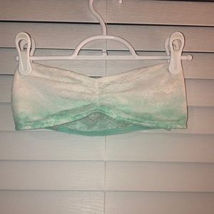 VS Pink white to teal ombré lace bandeau